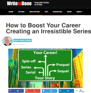 See this WriteToDone article at: http://writetodone.com/creating-an-irresistible-series/